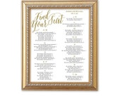 Wedding seating chart template| Printable seating chart| DIy wedding templateInstant download| You change color & names| SCA