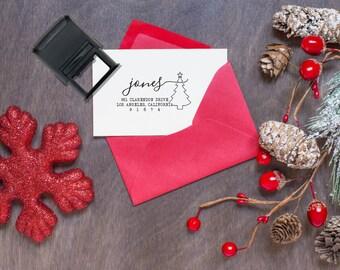 Custom Christmas Return Address stamp, Christmas Stamps, Custom Christmas Stamps, Return Address Stamps, Custom Stamp --SI-4929-Jones