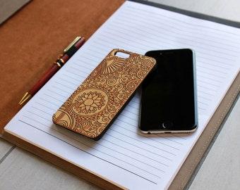 Personalized Iphone 6 case, Custom Iphone 6 case, Wood Iphone 6 case, Laser Engraved Iphone 6 case, Bamboo --IP6-BAM-Paisley ip6w