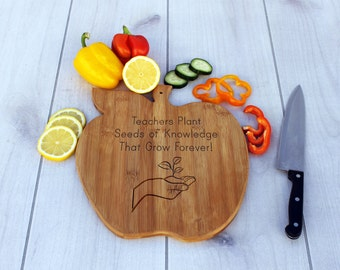 Personalized Cutting Board, Custom Cutting Board, Grandma's Cutting Board,  Teacher's Gift, Teacher's Day, From Students  --CB-AP-Teachers