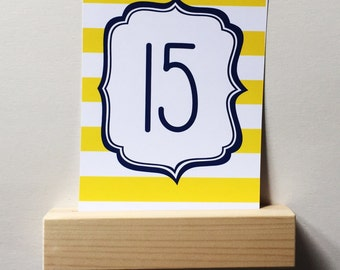 Card holder made of wood for table numbers or menu cards