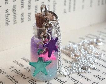 Galaxy Bottle Necklace / Pendant / Bookmark / Decoration / Keyring