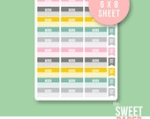 Work Schedule Planner Stickers | City Girl