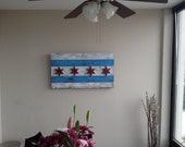 Chicago Flag - Hand Distressed