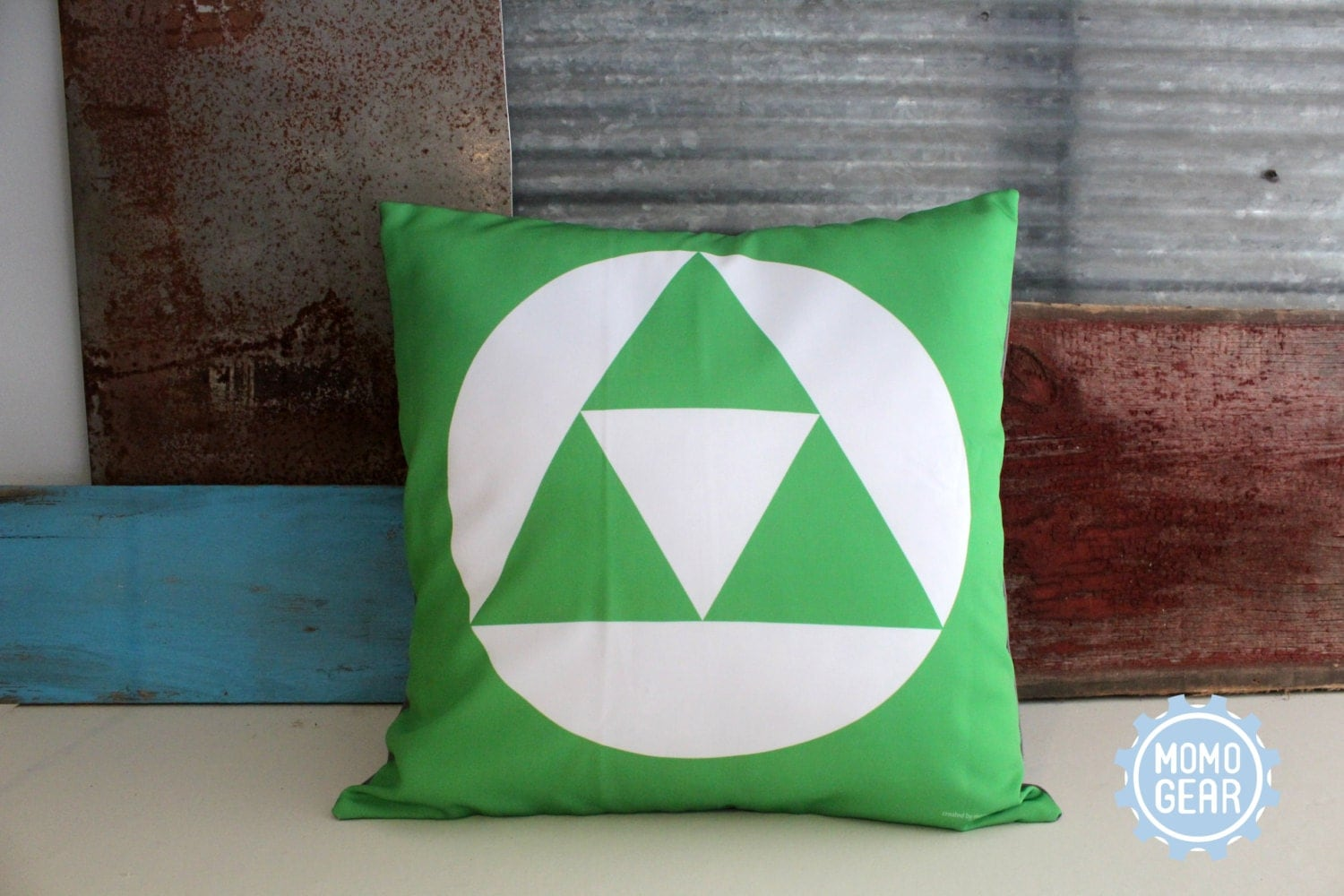 Zelda Throw Pillow : Zelda Tri Force Decorative Pillow Cover Gaming Tri by MomoGearShop