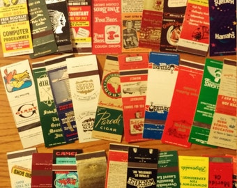 Selection of matchbook covers