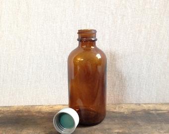 4oz Amber Apothecary Bottle