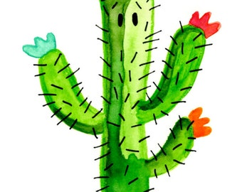 Cactus illustration Wow (A6)