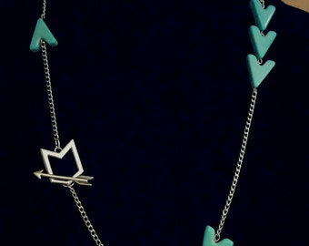 MARKED DOWN, Arrow Necklace, Boho Necklace, Tribal Necklace, Turquoise Necklace, Turquoise Arrow Necklace, Arrow, Necklace, tribal, necklace