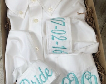 Bride Getting Ready Shirt | Bride Button Down Shirt | Bride Wedding Day Shirt | Bridesmaid Shirt | Bridesmaid Gift