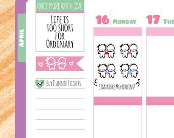 Munchkins - Cute Romantic Signature Munchkins Planner Stickers (M98)