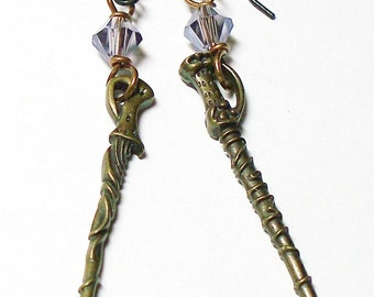 Wizarding Wands -- earrings