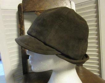 Suede Brown Cloche Hat