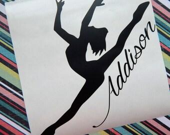 Personalized Dancer, Ballet Dancer Decal, Dance Decal, Ballet Decal