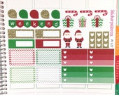 Christmas Planner Stickers, Holiday Planner Stickers, Erin Condren Christmas Stickers, Gloss Stickers 1121