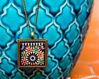 Pendant Alhambra Mosaic Ceramics Tiles Colours Photography Eco-resin