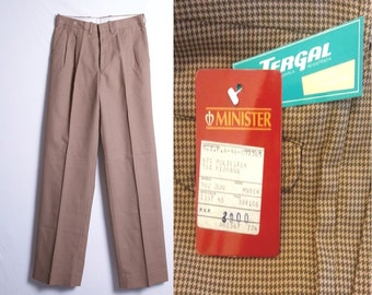 60s Vintage Mens Pants | 60s Houndstooth Mens Pants | Straight Pants Size S Small