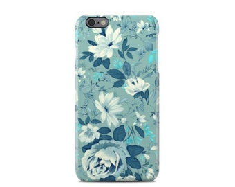 Green & Blue Floral Pattern iPhone 6 Case - iPhone 6S case - iPhone 6 Plus Case - iPhone 5 Case - iPhone 5S Case - iPhone 5C Case
