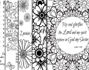 Baby Shower Bible Verse Coloring Party Printables Games Keepsake DIY Fun Favors Adults Book