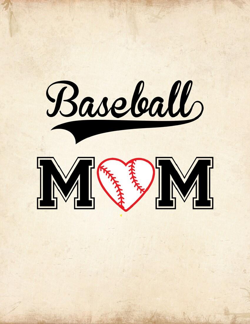 Baseball Mom SVG Baseball Mom Shirt Design SVG EPS