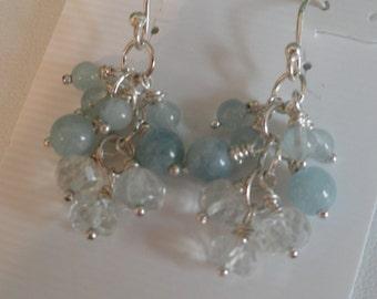Aquamarine Earrings  -  #288