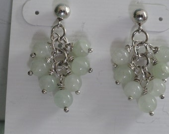 Light green Aventurine Earrings  -  #294