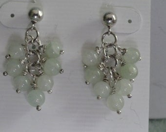 Light green Aventurine Earrings   -   #306