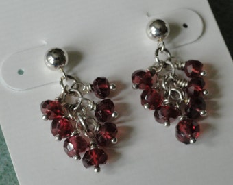 Rhodolite Garnet Earrings  -   #329