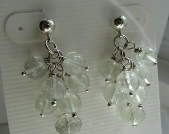 Green Amethyst Earrings  -  #331