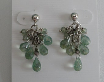 Green Mystic Quartz Earrings  -  #365