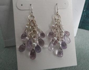 Pink Topaz Earrings  -  #388