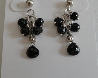 Black Spinel Earrings  -  #413