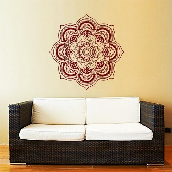 Yoga Studio Wall Decor : Mandala wall decal yoga studio vinyl sticker decals ornament