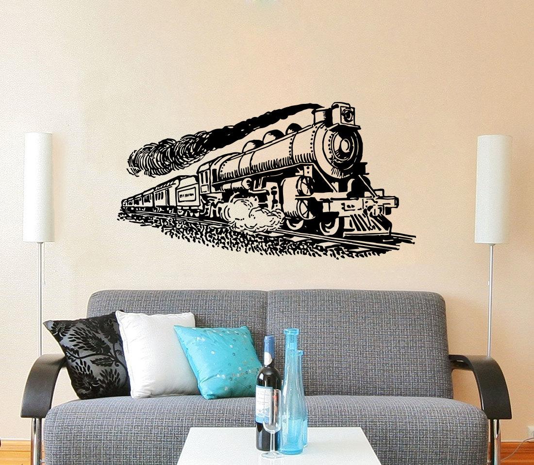 Home Decor Murals: Train Wall Decal Vinyl Stickers Decals Art Home Decor Mural