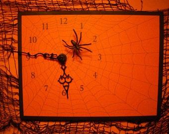 Halloween Spider Clock
