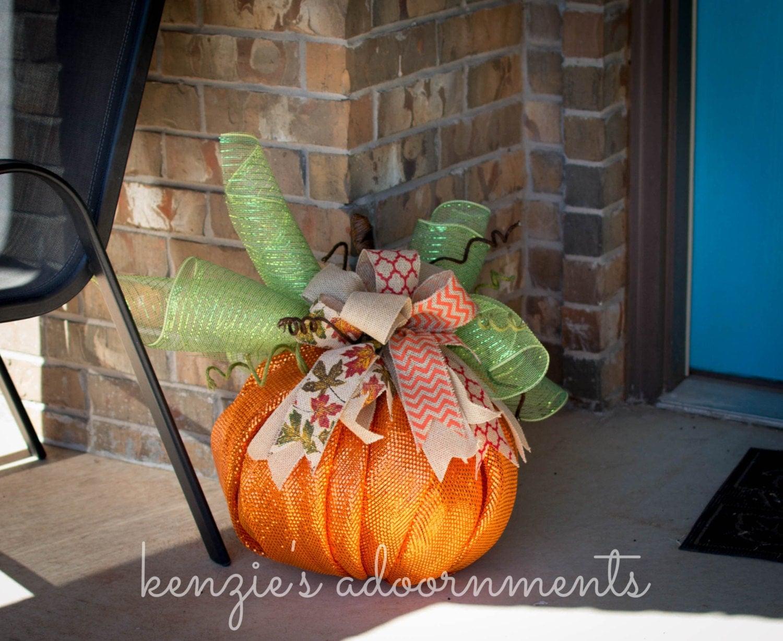 Deco mesh pumpkin fall porch decorations fireplace