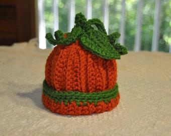 Pumpkin Baby Beanie Hat 0-6 months