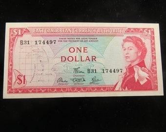 Eastern Caribbean States One Dollar 1965 Crisp