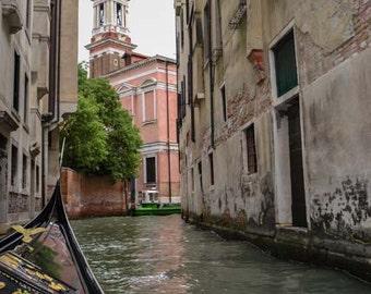 Venice photography, Venetian wall art, Italy wall print, gondola print, Venice home decor, wall print, Europe photography, Italian church