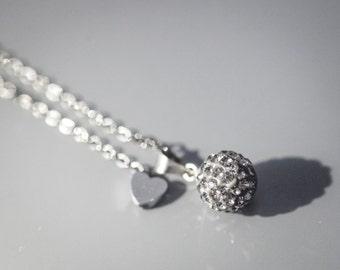 Grey Crystal Necklace
