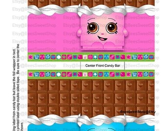 Shopkins Candy Bar Wrappers Printable Digital File | Instant Download