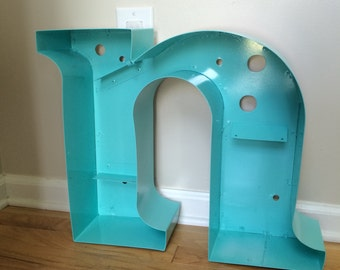 "Large reclaimed, refurbished letter ""n"". Cleaned and hardware removed"