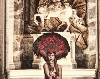 Headdress Samba red