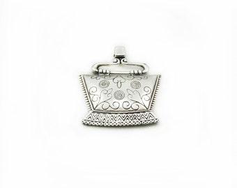 Ethnic Pendant, Large Ethnic Pendant, Metal Ethnic Pendant, Making Jewelry, Gtaft Supplies, Metal Pendant