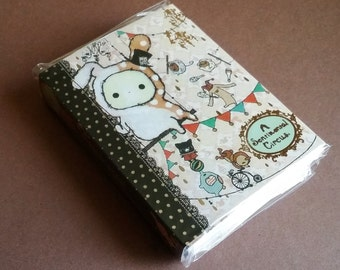 San X Sentimental Circus 8 Fold Memo Pad: Series #1/Notebook/Sticky Notes/Mini Memo Pad