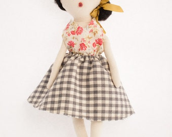 Rag Doll Modern Cloth Doll | Eleana