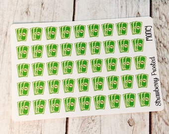 MINI SIZE Dollar Bills/Money Savings Planner Stickers -Planners//Personal Size Planner