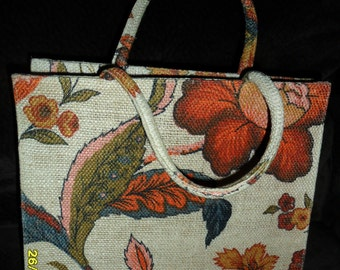 Vintage Margaret Smith Handbag Floral Auttum