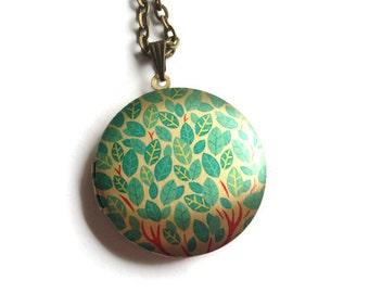 Leaf Locket, Tree Locket, Leaf Design, Leaf Pendant, Picture Locket, Leaf Jewellery, Bronze Locket, Leaves Necklace, Photo Locket,