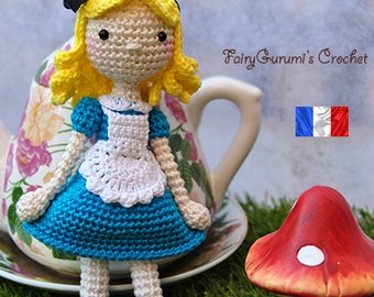 Alice amigurumi crochet pattern